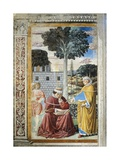 St Agostino Reading Epistles of St Paul  Detail from Stories of St Augustine  1465