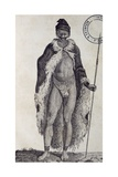Hottentot Man  Engraving from Travels into Interior of Africa Via Cape of Good Hope