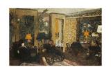 Room with Three Lamps  Rue St Florentin; Le Salon Aux Trois Lampes  Rue St Florentin  1899