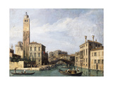 The Grand Canal with San Geremia  Palazzo Labia and the Entrance to the Cannaregio  C1726-1730
