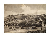 Heere Camp  Engraving from Journey into Africa  1783-1785