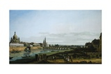 Dresden from Right Bank of Elbe Upstream from Bridge of Augustus  Circa 1750