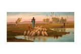 Shepherdess and Her Flock at a Pool Left by the Subsiding of the Overflow of the Nile