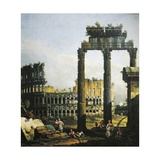 Roman Capriccio with Colosseum  1742-1746