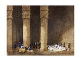 Breakfast in Egyptian Temple  from Empress Eugenie of France's Journey in Egypt