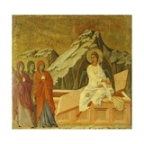 The Three Marys at the Tomb  Detail of Tile from Episodes from Christ's Passion and Resurrection