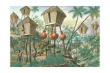 Huts of the Mountain Indians  from 'The Febus Album of Views in and around Manila'  C1845