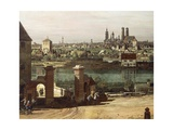 View of Munich from Haidhausen with River Isar in Centre  1761