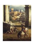 Roman Capriccio with Turreted Walls and City Gates  1742-1747