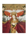 Holy Trinity Crowning Virgin  Detail from Coronation of Virgin  1454