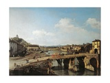 View of the Old Bridge over the Po at Turin  1745