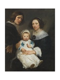 Self Portrait with Wife Catherine De Hemerlaer and Son Jan Erasmus Quellinus  1635-36