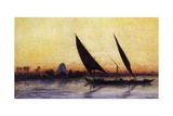 Trip on Nile by Felucca  from Empress Eugenie of France's Journey in Egypt