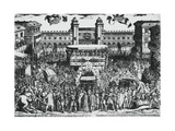 View of Piazza Del Castello  Turin  During Ostension of Holy Shroud  4th May 1613