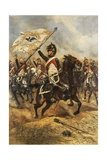 The Trophy  Soldier of 4th French Dragoon Regiment with Prussian Flag  1806