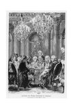 Voltaire Seated Next to King Frederick II at the Château De Sans Souci  Potsdam  Germany  1878
