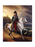Portrait of Justo Machado Y Salcedo  Spanish Consul in Paris on Horseback  1821