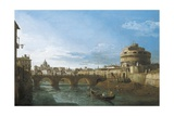 Tiber River and Castel Sant'Angelo  Rome  Circa 1742