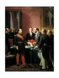 Napoleon III Hands over Decree Allowing Annexation of Suburban Communes of Paris