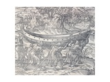 Laplanders Carrying their Boats from One Place to Another  Engraving from Universal Cosmology