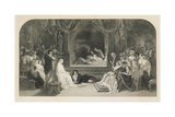 The Play Scene  Act III  Scene II of Hamlet by William Shakespeare  Engraved by Charles W Sharpe