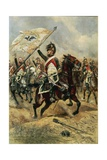 The Trophy  Soldier of the 4th French Dragoon Regiment with the Prussian Flag