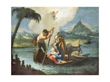 Holy Family Crossing Nile on their Flight into Egypt