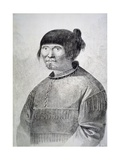 Portrait of Tattooed Native from Island of Unalaska  1778