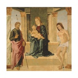 Virgin and Child Enthroned  with St James and St Sebastian