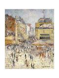 Bastille Day on Rue De Clignancourt  Paris; La Quartorze Juillet a Paris  La Rue De Clignancourt