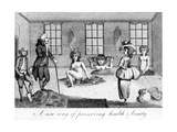 """A New Way of Preserving Heath and Beauty  Illustration Taken from """"Ramblers Magazine""""  1786"""