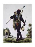 Man from Namaquas Tribe  Africa  Engraving from Encyclopedia of Voyages  1795