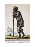Senega Negro  Color Engraving from Encyclopedie Des Voyages