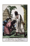 Marabout Island Saint-Louis  Senegal  Color Engraving from Encyclopedie Des Voyages