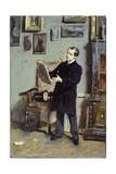 Self-Portrait of Giovanni Boldini Looking at a Picture  Ca 1865