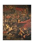 The Battle of Salvore  Detail of the Doge Taking Barbarossa's Son Prisoner  C1605