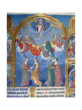 Ms 412 the Trinity Surrounded by Three Angels and Below Them Personifications of Mercy and Truth