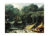 Fete at Rambouillet or Island of Love  Circa 1770