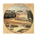 Raphael's Casino Seen from Villa Borghese in Rome  1805