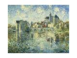 Moret-Sur-Loing  the Bridge and the Church; Moret-Sur-Loing  Le Pont Et L'Eglise  C1935