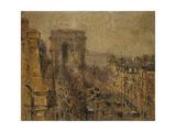 L'Avenue De Friedland  Paris  Cloudy Sky; L'Avenue De Friedland  Paris  Ciel Nuageux  1925