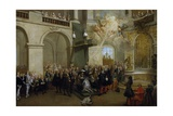 Conferring of the Order of the Holy Spirit in the Chapel of Versailles  June 3  1724