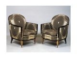 Pair of Art Deco Style Armchairs  Ducharne Model  1926