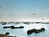 Omaha Beach after the Successful D-Day Invasion