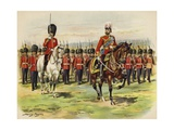 King George V as Prince of Wales Leading His Regiment  the Royal Fusiliers  at Aldershot