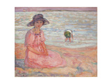 Woman in the Pink Dress by the Sea; Femme a La Robe Rose Au Bord De La Mer  C1920