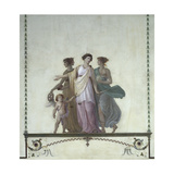 Allegory of Comedy  Justice and Truth  Pompeian-Style Fresco