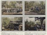 Artillerie De 75  Obusier En Foret  Une Piece De 75 Abritee  Grosse Piece De Marine
