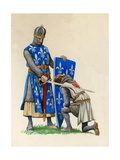 Prince Richard  the Future Richard the Lionheart  Being Knighted by King Louis of France