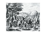 Caravan of Arab Merchants Travelling from Aleppo to Basra  Engraving from Grands and Petits Voyages